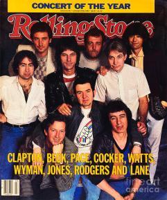 Portada de Rolling Stone (Enero; 1984) con todos los integrantes del ARMS Charity Concert celebrado en el Madison Square Garden